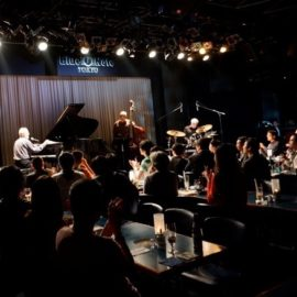 Playing the Blue Note club: Tokyo, Japan.