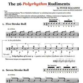 "The Official ""26 Polyrhythm Snare Drum Rudiments"""