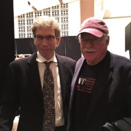 w. John Riley after a concert with the Vanguard Jazz Orchestra